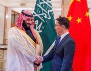 """بالصور ..ولي العهد يجتمع مع """"هان تشنغ"""" ويستعرضان العلاقات السعودية الصينية وفرص تطويرها"""