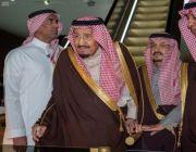 خادم الحرمين الشريفين يصل الرياض قادماً من جمهورية مصر العربية