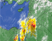 تحديث 7:55م | تدفق المزيد من السحب الرعدية نحو القريات ومناطق الشمال الساعات القادمة