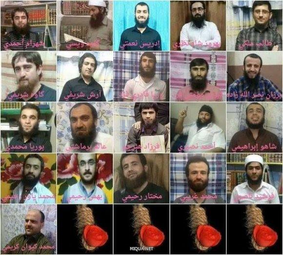 عدد من دعاة وناشطي السنة الإيرانيين المحكومين بالإعدام